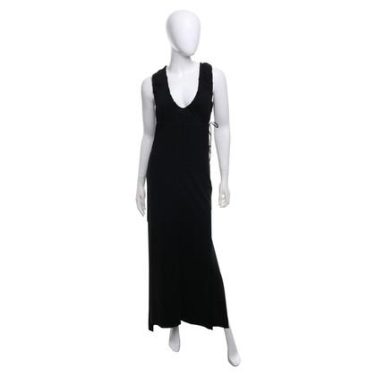 Fendi Langes Kleid in Schwarz