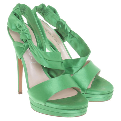 Casadei Plateau pumps in green