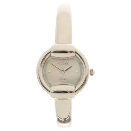 Gucci Silberfarbene Armbanduhr