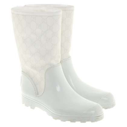 Gucci Gummistiefel in Weiß