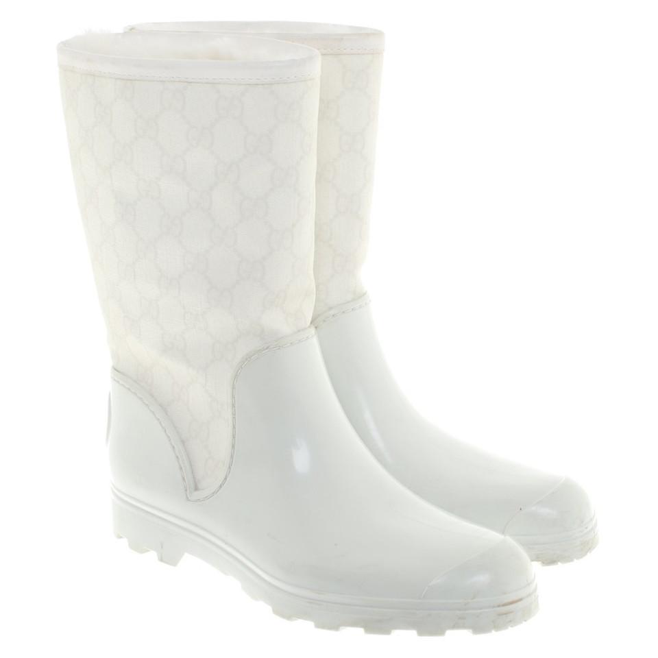 Rubberen Schoudertassen : Gucci rubberen laarzen in het wit koop tweedehands
