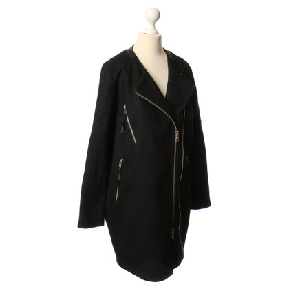 All Saints Coat in black