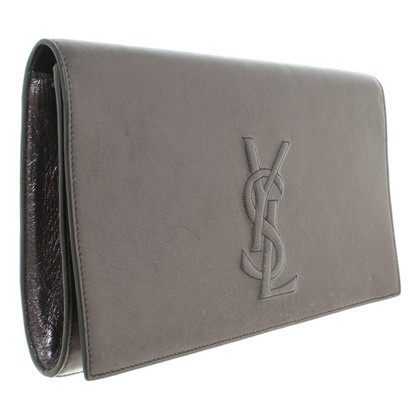 Yves Saint Laurent Silver color clutch