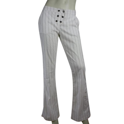 Armani Jeans Trousers in white and black seams
