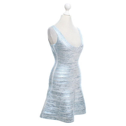 Hervé Léger Dress in silver blue