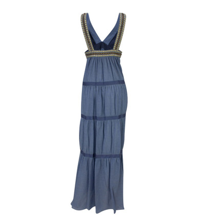 Tibi Maxi jurk in de Denimlook