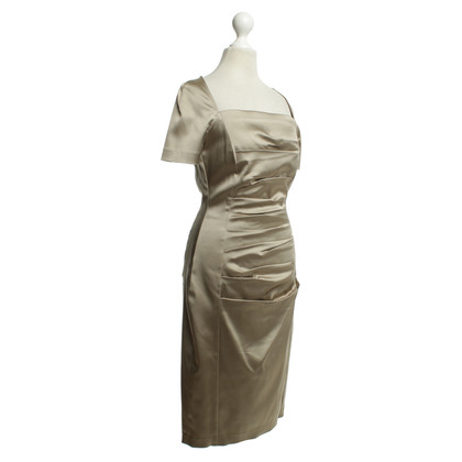 Talbot Runhof Gold-colored cocktail dress