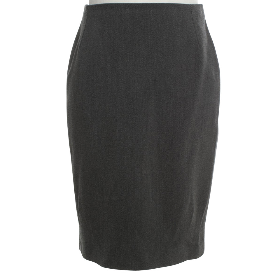 Gianni Versace Pencil skirt in dark gray