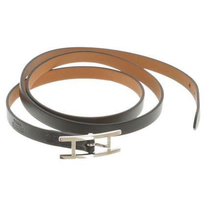 Hermès Leather strap in black
