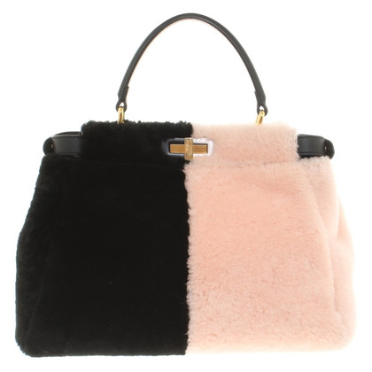 "Fendi ""Peekaboo Bag"" with fur trim"