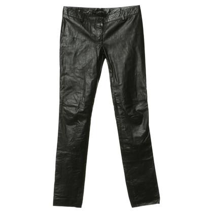 Patrizia Pepe Pantaloni di pelle in nero
