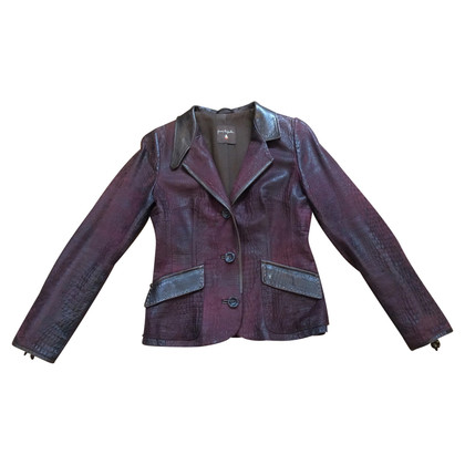 Henry Beguelin leather blazer
