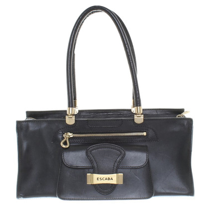 Escada Leather handbag in black