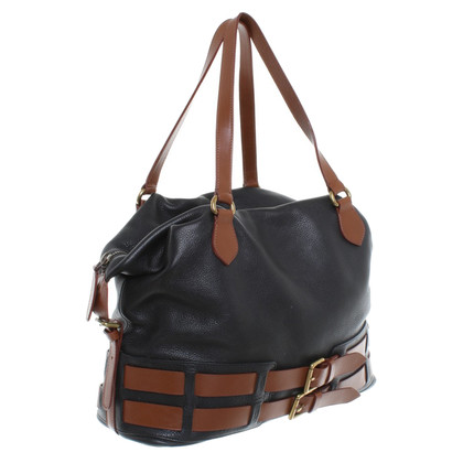 Etro Leather handbag in Black / Brown