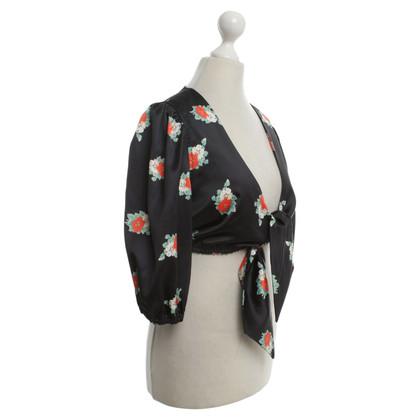 Ganni Bolero with floral pattern