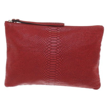 Coccinelle clutch snake leather