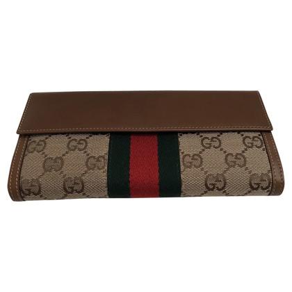 Gucci Portefeuille met geweven rood / groen