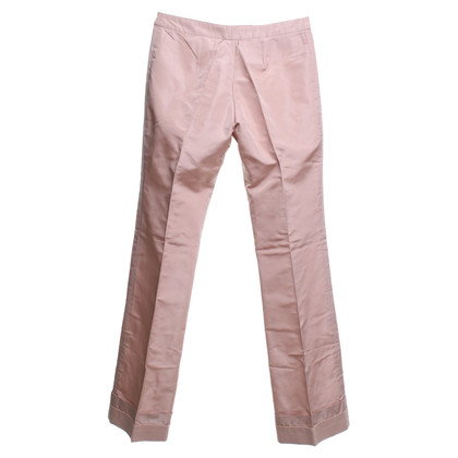 Alexander McQueen Silk pants in nude