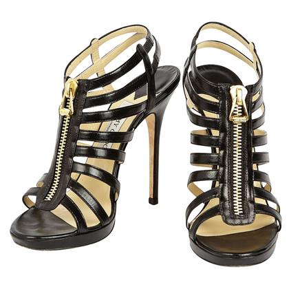 Jimmy Choo Leder schwarz Heels