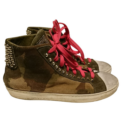 Patrizia Pepe Lace-up suede high trainers