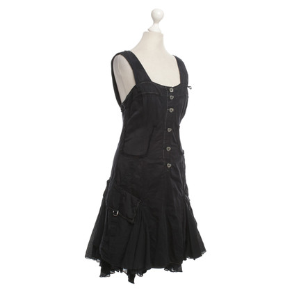 Marithé et Francois Girbaud Ballon jurk in zwart