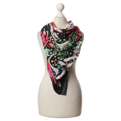 Other Designer Hermione de Paula - silk scarf with flower pattern