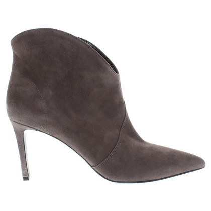 Yves Saint Laurent Taupe ankle boots