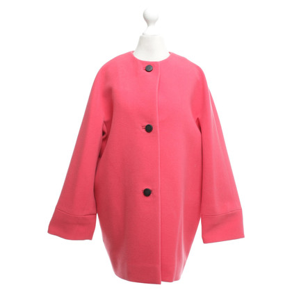 Balenciaga Coat in coral red