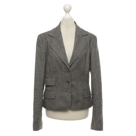 Dolce & Gabbana Anzug mit Fischgrätmuster Grau