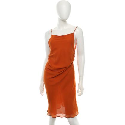 Patrizia Pepe Seidenkleid in Orange