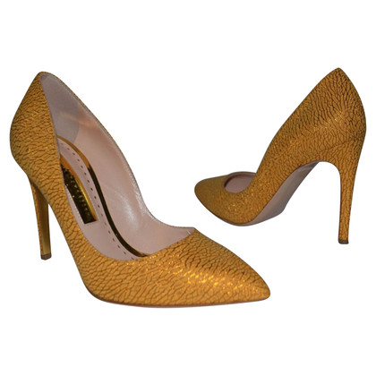 Rupert Sanderson Malory in Honeydue Shatter Hight Heel