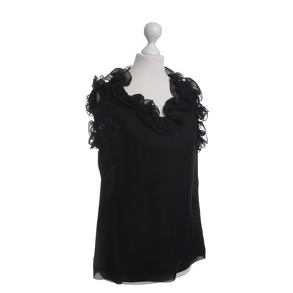 Escada Top in seta nero