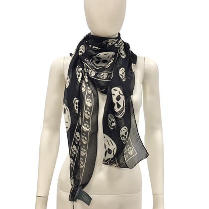 Alexander McQueen Zijden sjaal met print