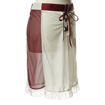 Miu Miu Lace-up skirt in cream