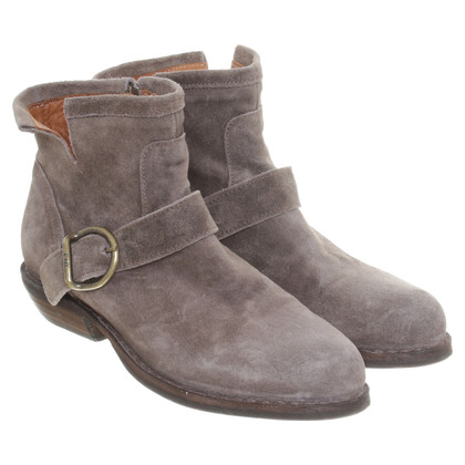 Fiorentini & Baker Suede Ankle Boots in Taupe