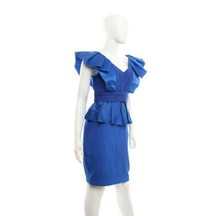 Marchesa Abito in seta in Royal Blue