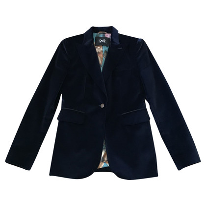 Dolce & Gabbana Samtblazer in Blau