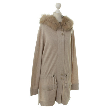 Cinque Knitted Cardigan with rabbit fur trim