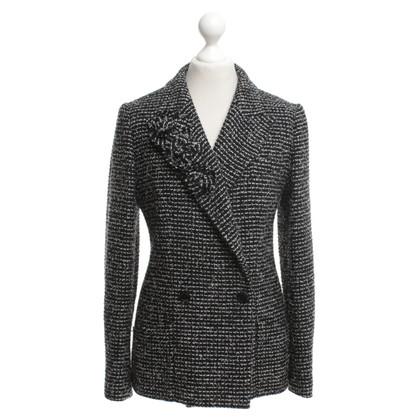 Chanel Bouclé blazer in cream / black