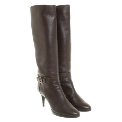 Sergio Rossi Boot in brown leather