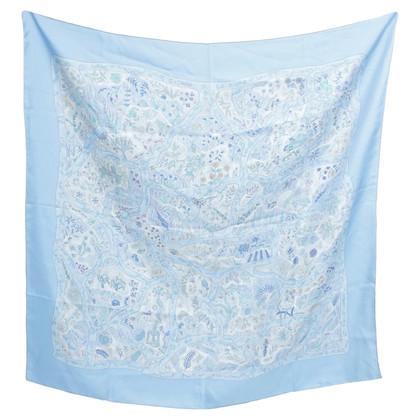Hermès Silk scarf in blue tones