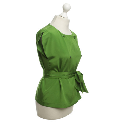 Tara Jarmon Silk Top in Green