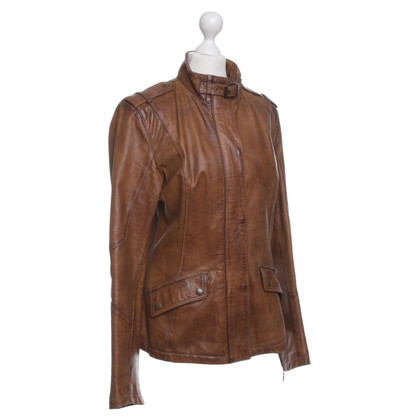 Belstaff Leather Jacket in Brown