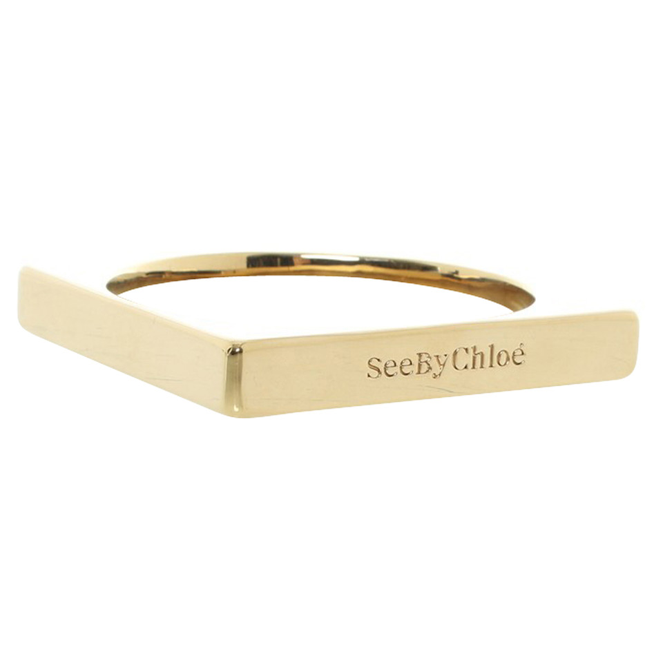 See by Chloé Gold colored metal bangle