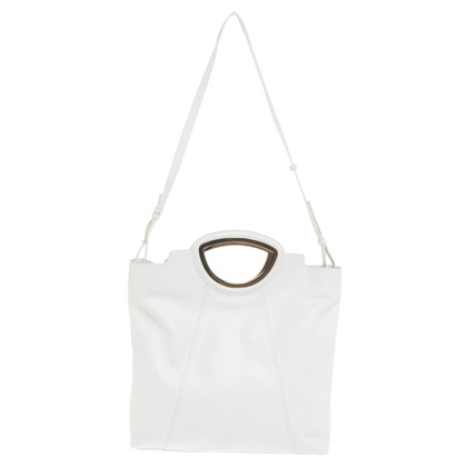 Pollini Tote Bag in cream white