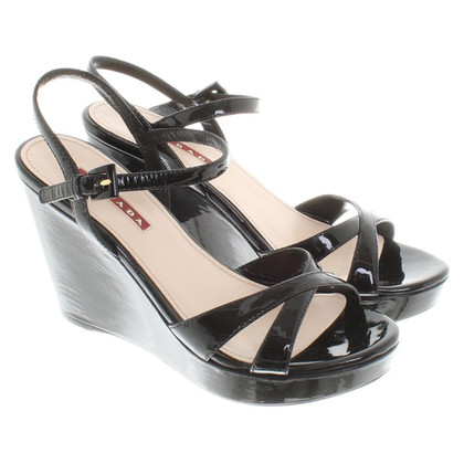 Prada Sandalen Patent Leather