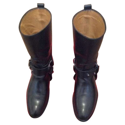 Hugo Boss Biker boots in black