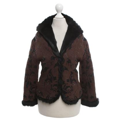 Roberto Cavalli Jacket with rabbit fur