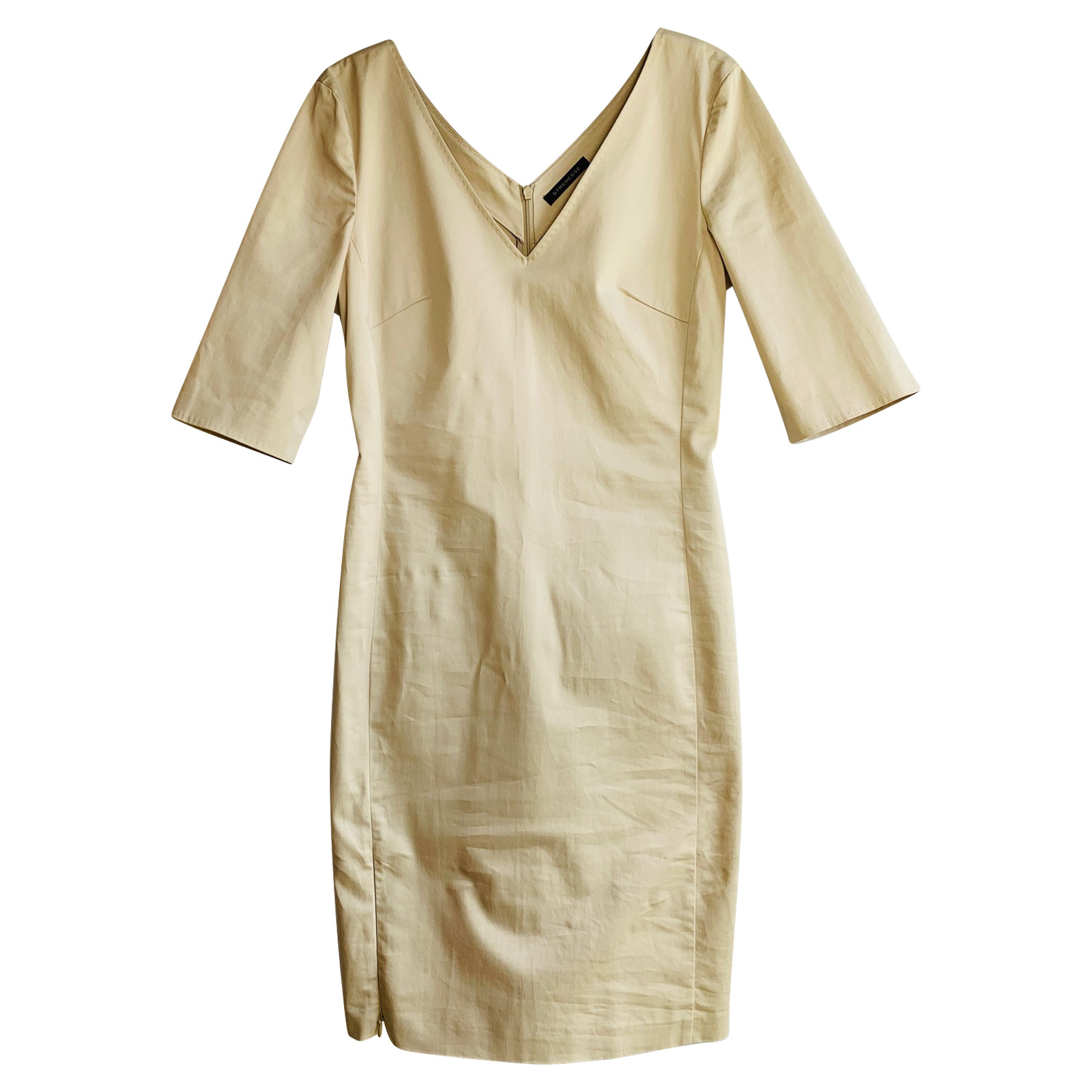 Strenesse Kleid aus Baumwolle in Beige - Second Hand Strenesse