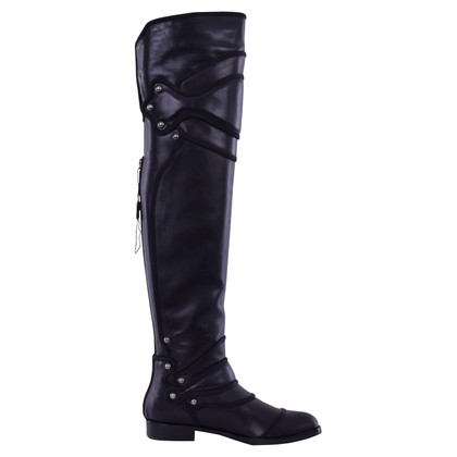 Dolce & Gabbana Overknee Stiefel in Schwarz